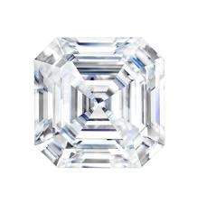 Forever One Asscher Cut Moissanite