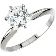Moissanite 6 Prong Tiffany Forever Brilliant